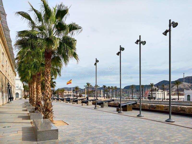 Cidade de Cartagena spain imagens de stock royalty free