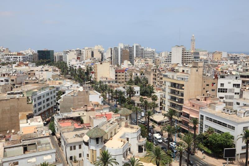 Cidade de Casablanca, Marrocos fotos de stock royalty free