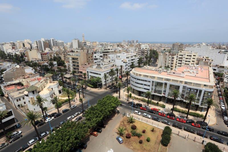 Cidade de Casablanca, Marrocos foto de stock