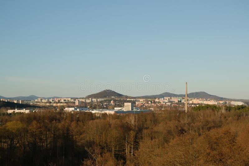 Cidade de Ceska Lipa no kraj checo de Machuv da região do turist imagem de stock