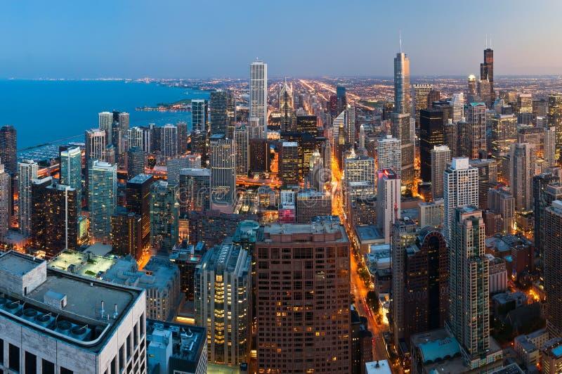 Cidade de Chicago. imagens de stock royalty free