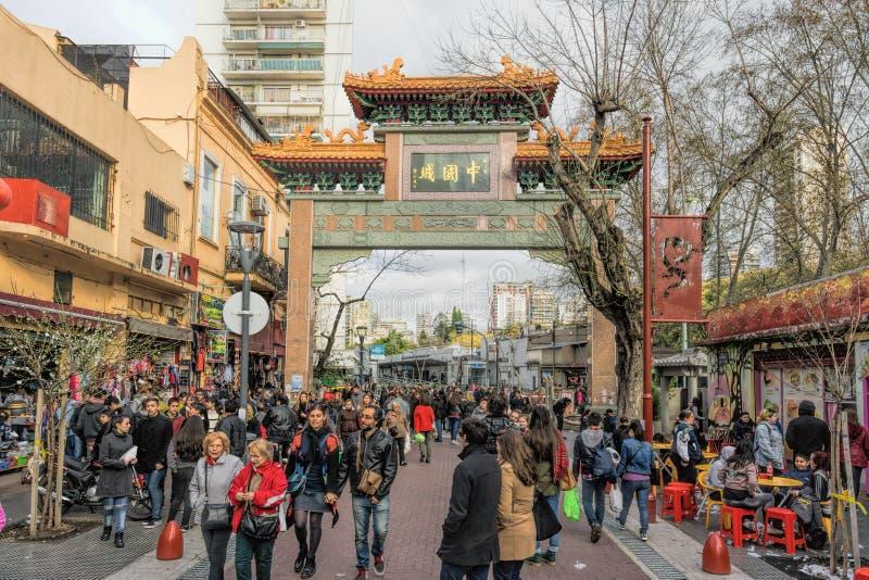 Cidade de China na vizinhança de Belgrano, Buenos Aires, Argentina fotos de stock