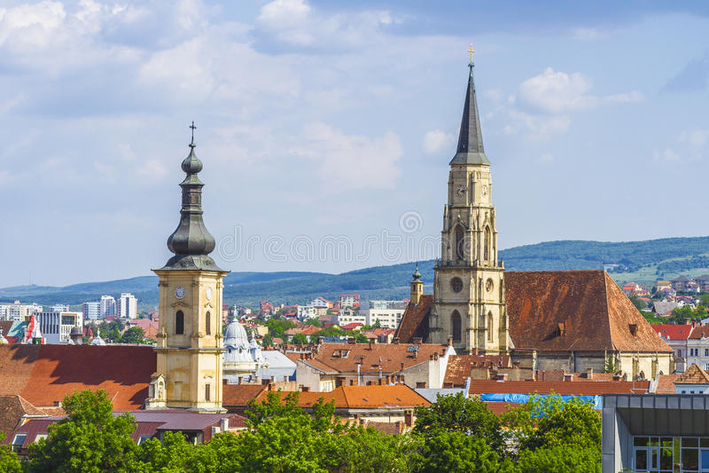 Cidade de Cluj-Napoca foto de stock royalty free