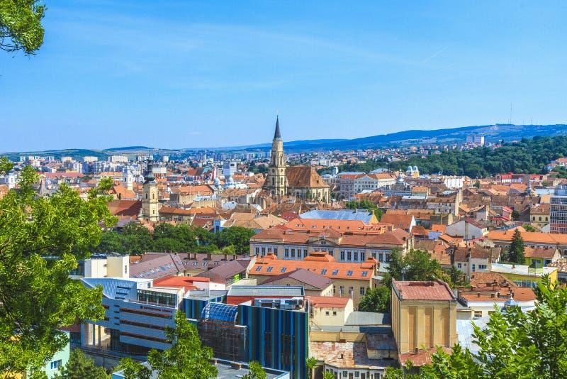 Cidade de Cluj-Napoca imagens de stock royalty free
