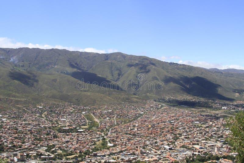 Cidade de Cochamba, Bolívia imagem de stock