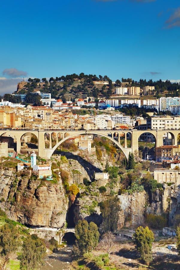Cidade de Constantim, Argélia imagem de stock