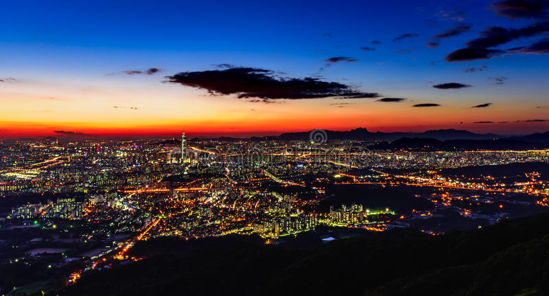 Cidade de Coreia, Seoul imagem de stock
