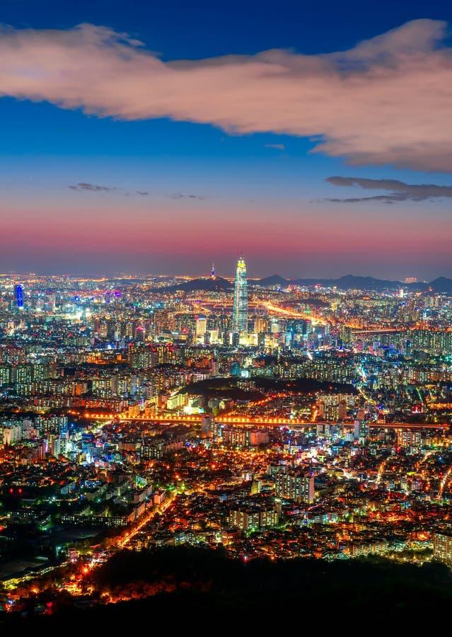 Cidade de Coreia, Seoul fotografia de stock