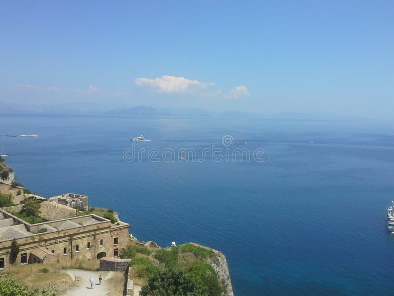 Cidade de Corfu imagem de stock royalty free