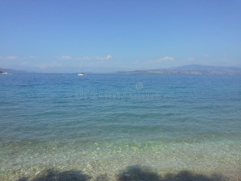Cidade de Corfu fotos de stock royalty free