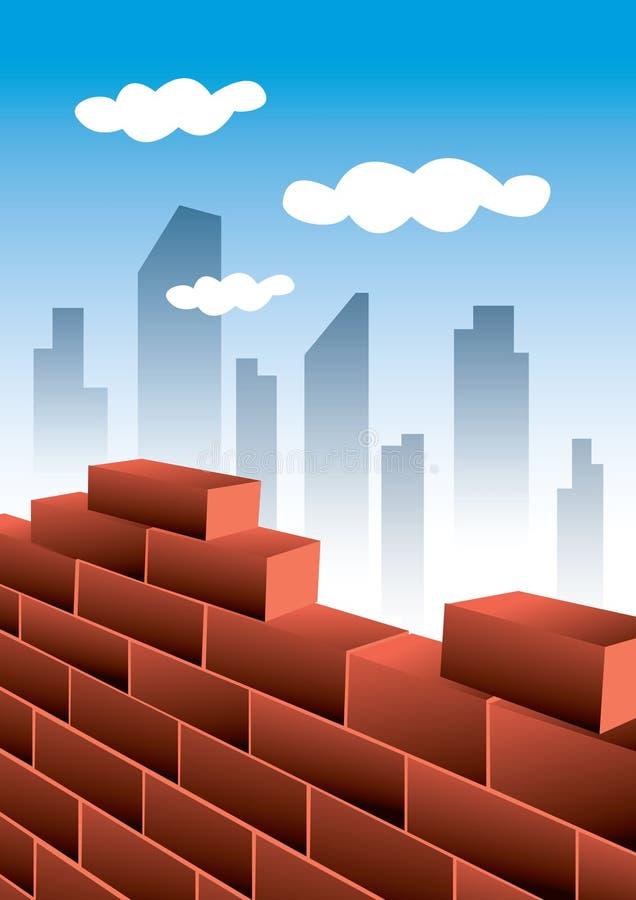 Cidade de crescimento ilustração do vetor