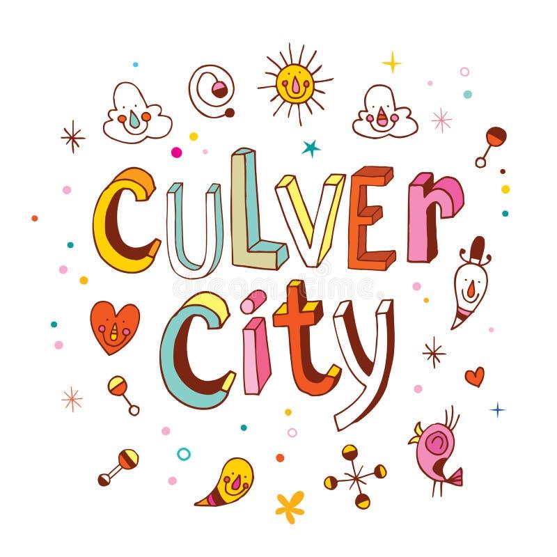 Cidade de Culver ilustração stock