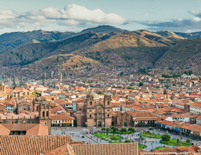 Cidade de Cuzco fotografia de stock