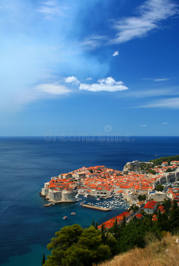 Cidade de Dubrovnik, Croatia foto de stock
