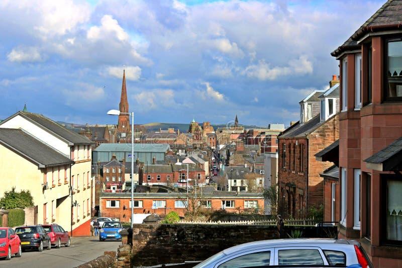 Cidade de Dumfries imagens de stock royalty free