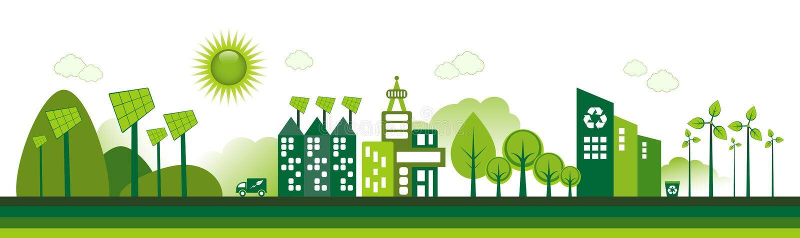 Cidade de Eco ilustração royalty free