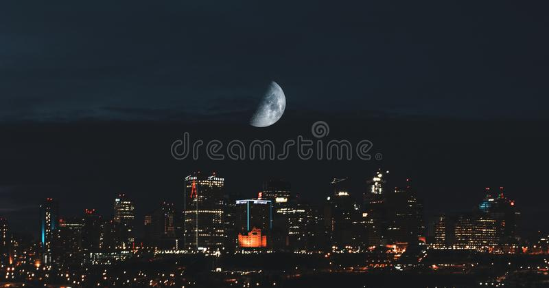 Cidade de Edmonton fotografia de stock royalty free