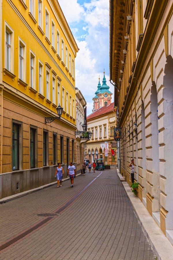 Cidade de Eger imagem de stock