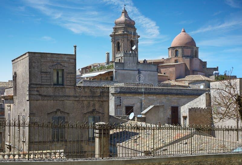 A cidade de Erice em Sicília, Itália foto de stock royalty free
