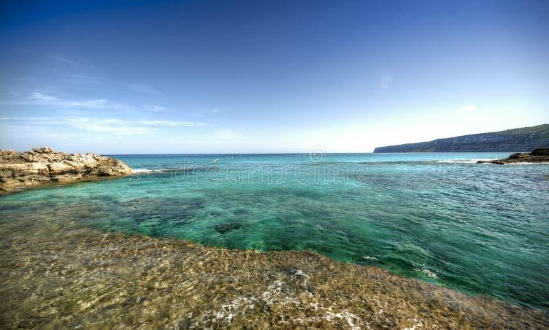 Cidade de Es Calo em Formentera foto de stock