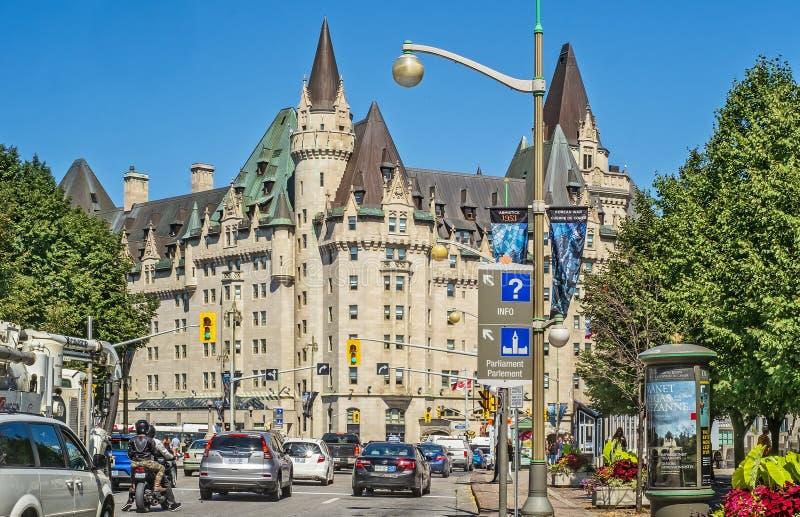 Cidade de Fairmont Château Laurier de Ottawa foto de stock royalty free