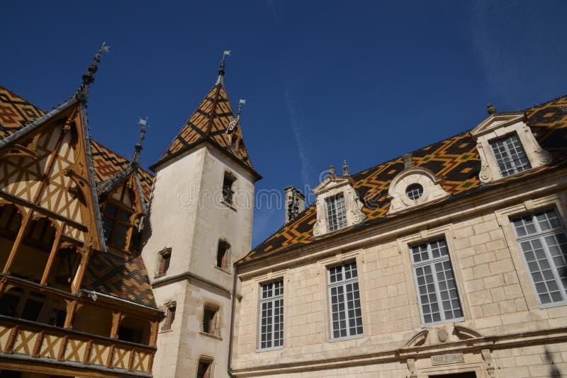 Cidade de França, velha e pitoresca de Beaune fotografia de stock