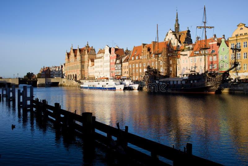 Cidade de Gdansk em Poland fotos de stock royalty free