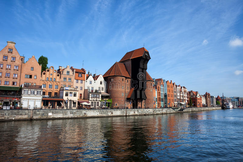 Cidade de Gdansk em Poland fotografia de stock