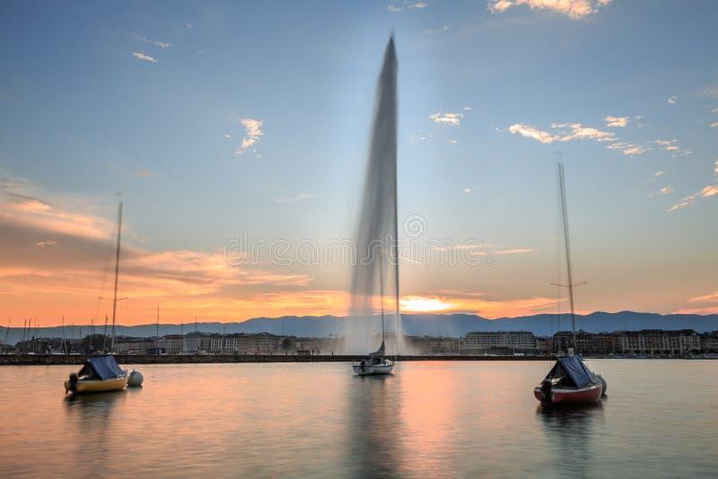A cidade de Genebra foto de stock