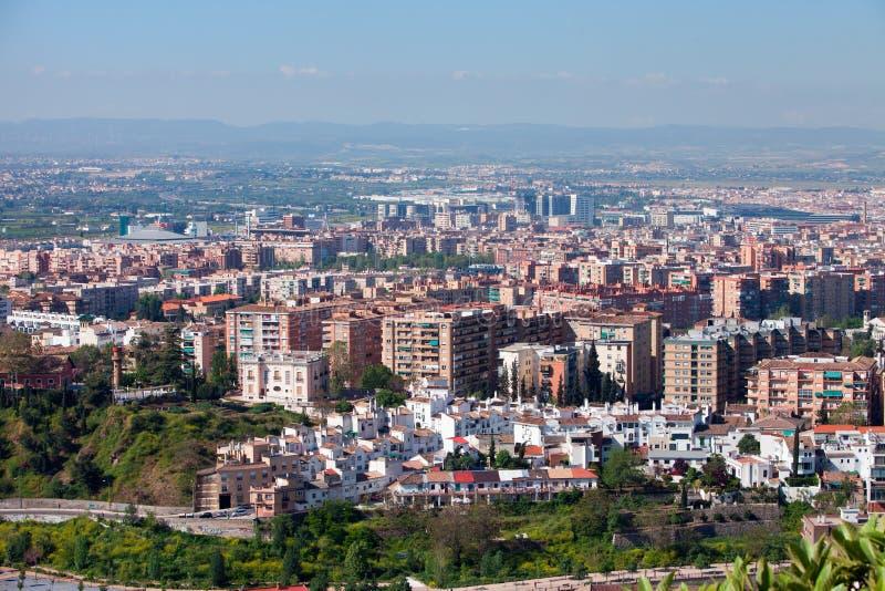 Cidade de Granada fotografia de stock