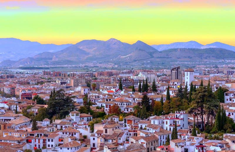Cidade de Granada fotos de stock