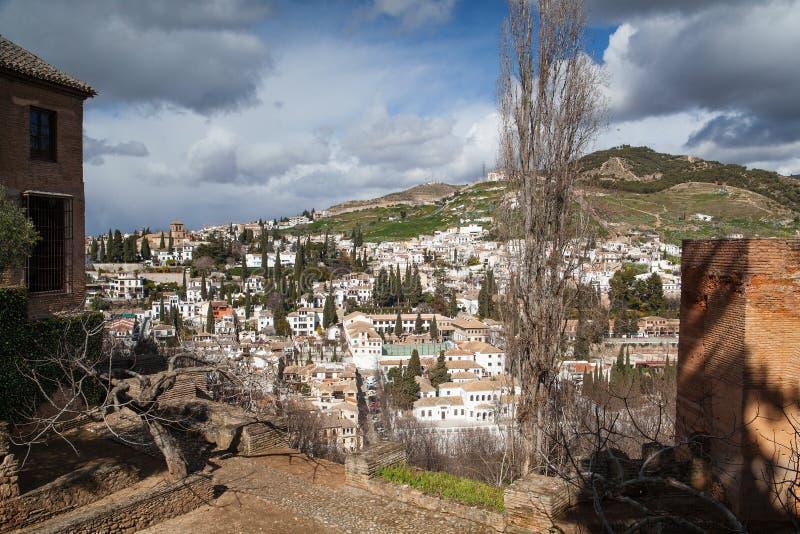 Cidade de Grenada em Spain fotos de stock