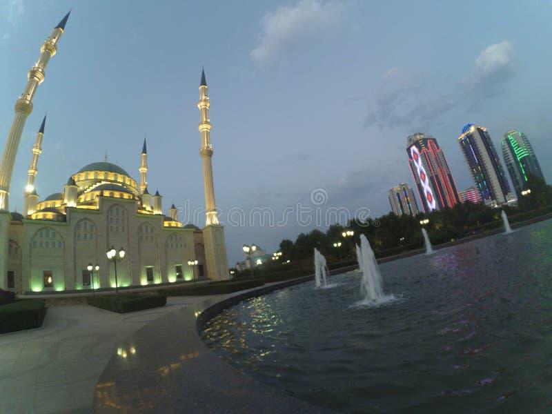 Cidade de Grozny em Chechnya imagem de stock