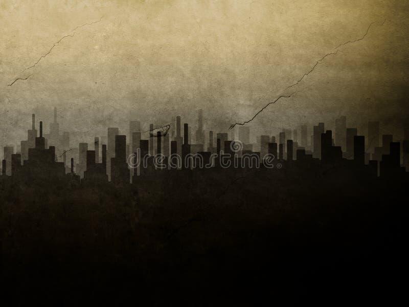 Cidade de Grunge ilustração royalty free
