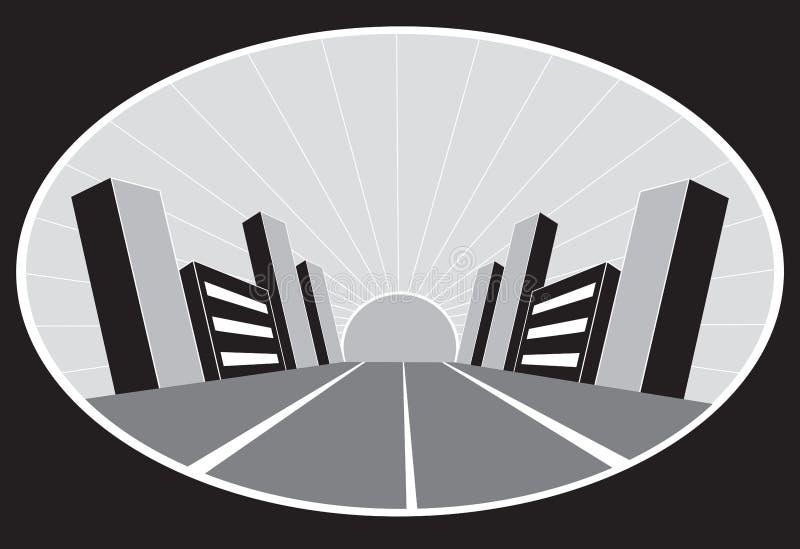 Cidade de Grunge ilustração do vetor