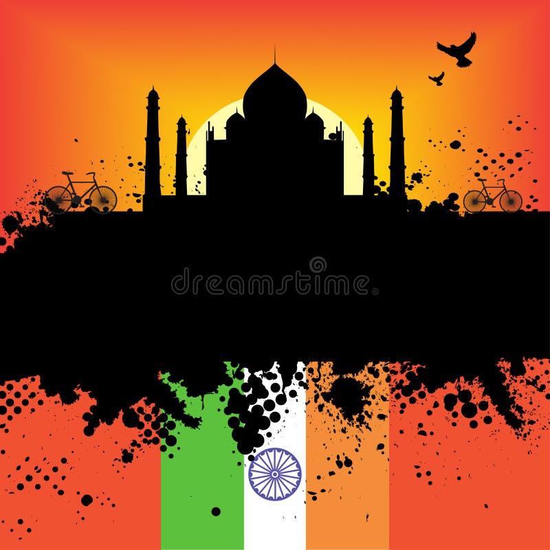 Cidade de Grunge de India ilustração royalty free