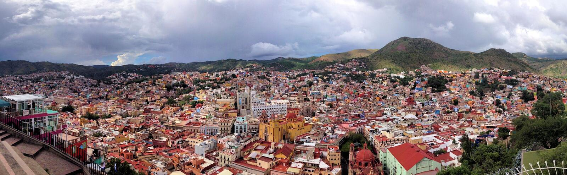 Cidade de Guanajuato da baixa fotos de stock