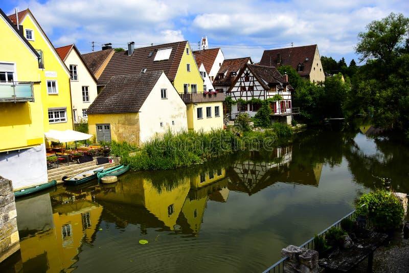 Cidade de Harburg fotos de stock