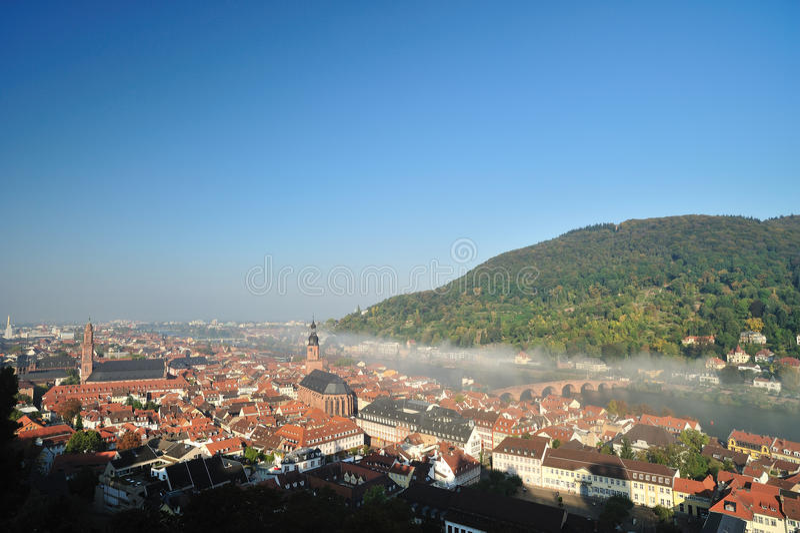 Cidade de Heidelberg de Alemanha fotos de stock royalty free