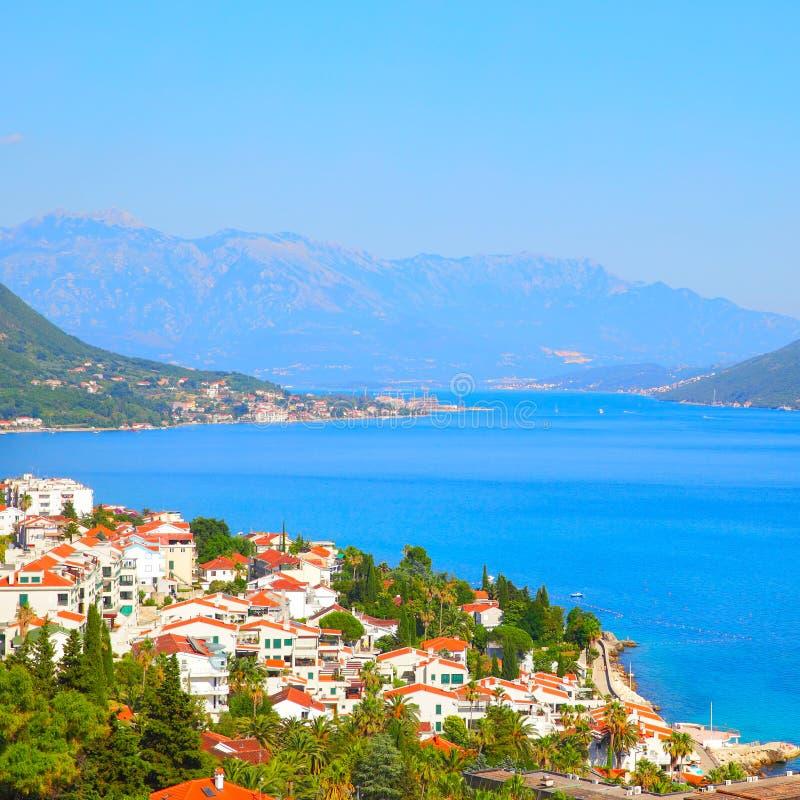 Cidade de Herceg Novi em Montenegro fotografia de stock