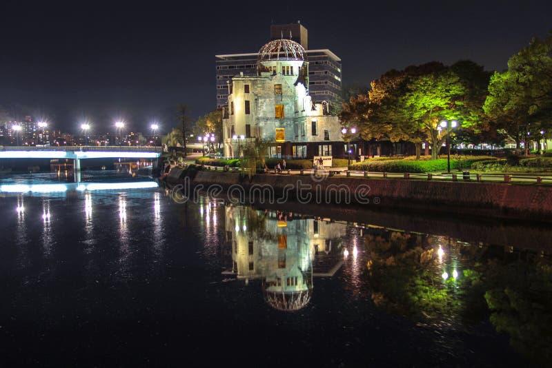 Cidade de Hiroshima na região de Chugoku de ilha de Japão Honshu Abóbada famosa da bomba atômica fotografia de stock