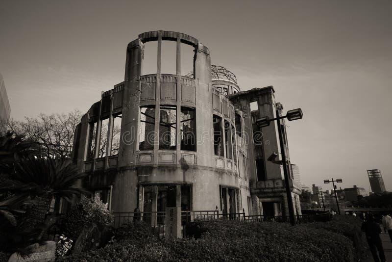 Cidade de Hiroshima na região de Chugoku de ilha de Japão Honshu Abóbada famosa da bomba atômica fotos de stock royalty free