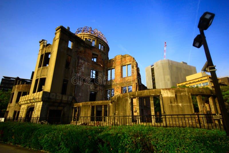 Cidade de Hiroshima na região de Chugoku de ilha de Japão Honshu Abóbada famosa da bomba atômica imagem de stock royalty free