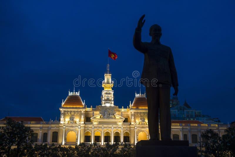 Cidade de Ho Chi Minh a construção do comitê do pessoa imagens de stock