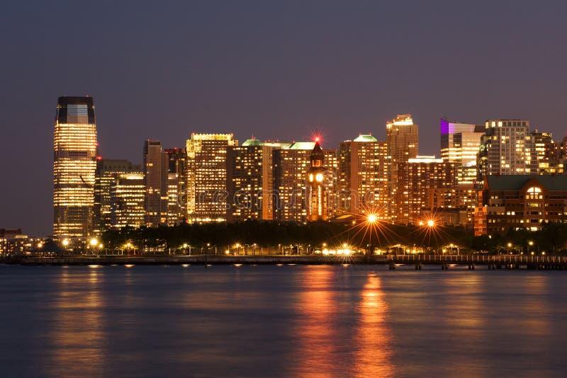 Cidade de Hoboken e de Jersey fotos de stock