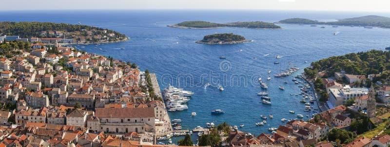 Cidade de Hvar, Hvar, Croácia imagem de stock