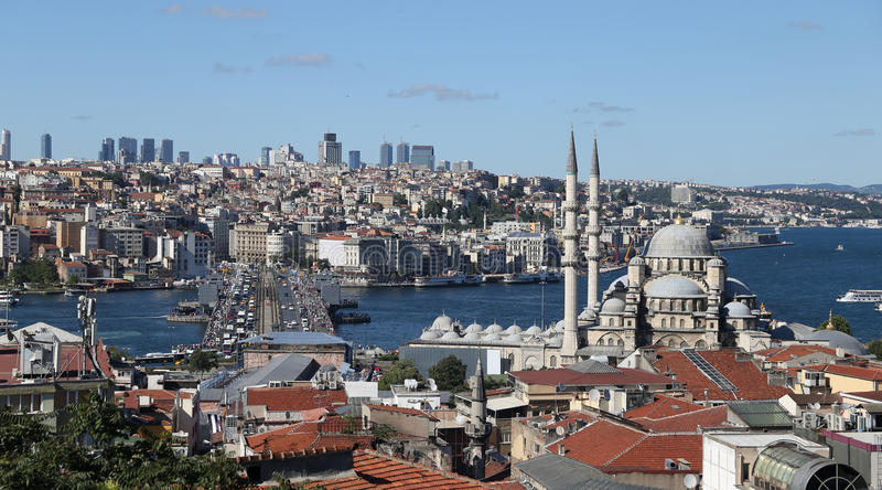 Cidade de Istambul em Turquia foto de stock royalty free