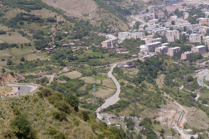 Cidade de Kajaran em Arménia fotos de stock royalty free