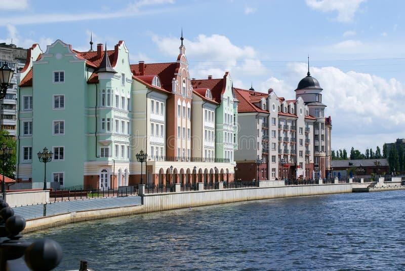 A cidade de Kaliningrad foto de stock