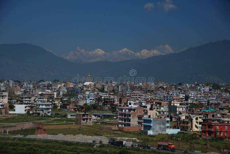 A cidade de Kathmandu imagem de stock royalty free